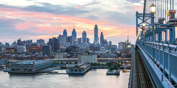 Philadelphia Photograph of Ben Franklin Bridge,Canvas Art .