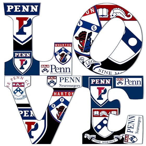 University of Upenn Love,Giclee on canvas And stretched with 1.5 wood(12x12)