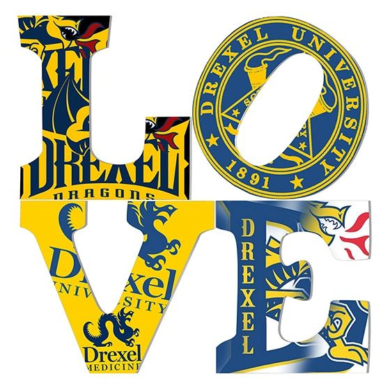 Drexel University Love is Giclee on Canvas Gallery Wrapped.
