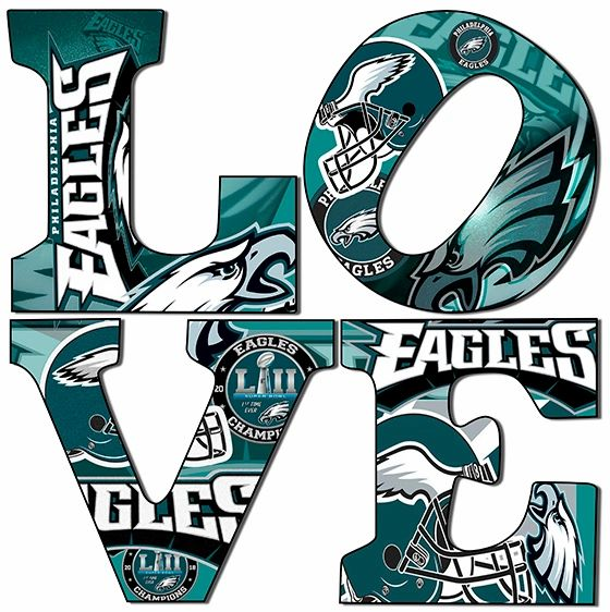 Philadelphia Eagles Love 12x12 Gallery wrapped,Canvas Art.