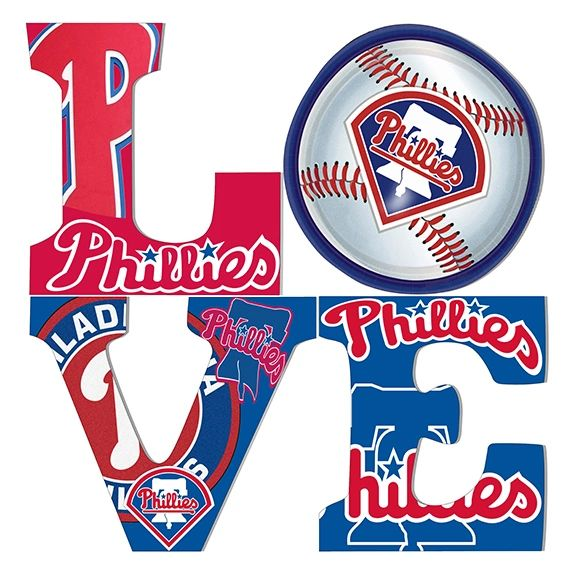Philadelphia sports Love (Phillies) Canvas Art .