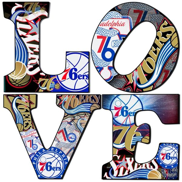 Philadelphia 76 ERS,Wall Art,Basketball,Canvas Art.