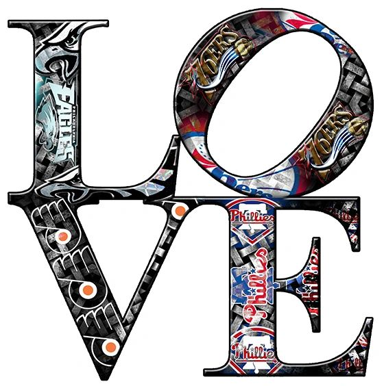 Philadelphia sports Love Teams 3(Canvas Art)