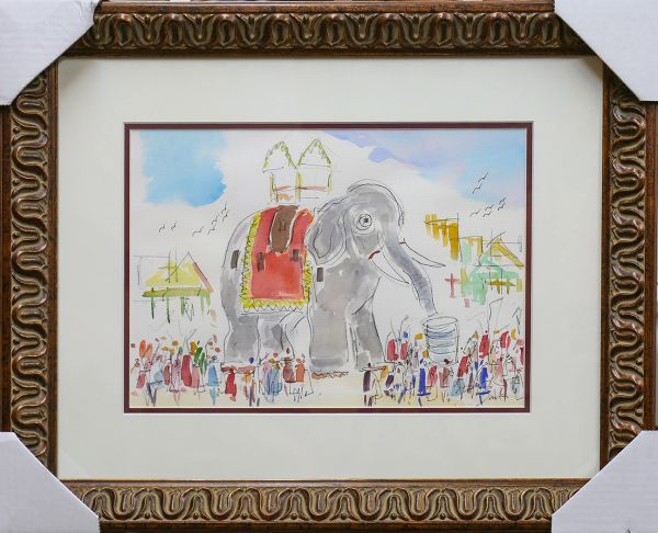 Original Watercolors Painting of the Lucy at Margate,NJ By the Artist Joe Barker,Framed and Matted