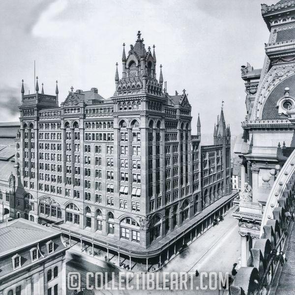 Broad Street Station, Philadelphia PA, USA, Circa 1900