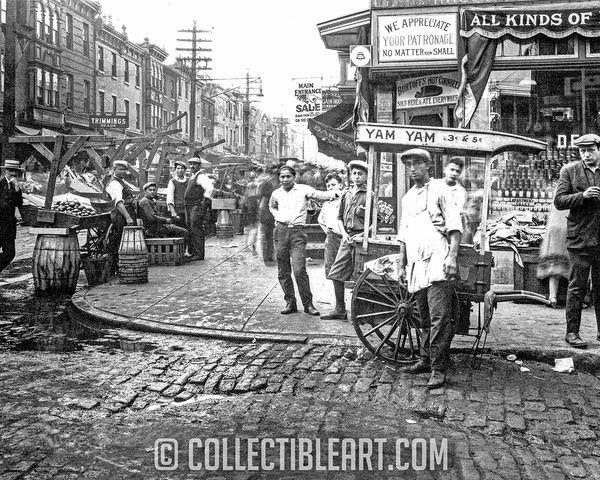 Italian Market, South Philadelphia PA, Circa 1906