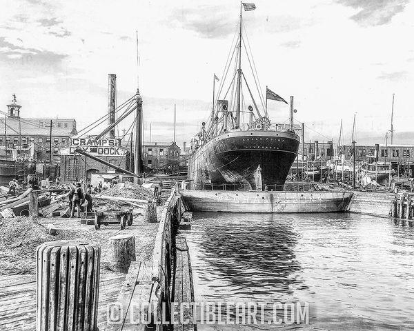 Cramp's Shipyard, Philadelphia PA, Circa 1904
