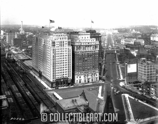 Love Park, Philadelphia PA, Circa 1939