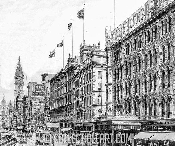 Market Street, Philadelphia PA, USA, circa 1905