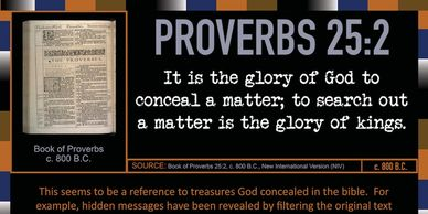 "Proverbs 25:2  ""It is the glory of God to conceal a matter . . . ""  401 Quote Cards by GenpopMedia."