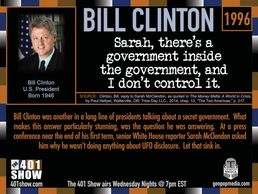 President Bill Clinton Quote. Answers press question about his promise to reveal UFO data if elected