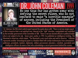 MI-6 Officer. Dr. John Coleman. 1999. Quote. No one thus far has gotten away with defying ...