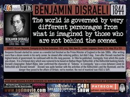 British Prime Minister, Benjamin Disraeli Quote: The world is governed by very different personages