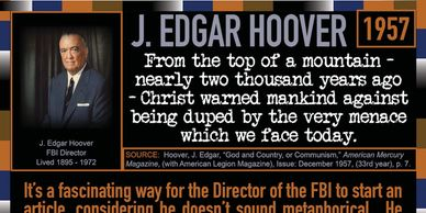 J. Edgar Hoover quote with a huge warning for us today.  401 Quote Cards by Genpopmedia.com.