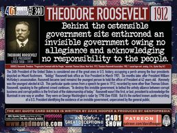 U.S. President Theodore Roosevelt Quote: Behind the ostensible government sits enthroned ...