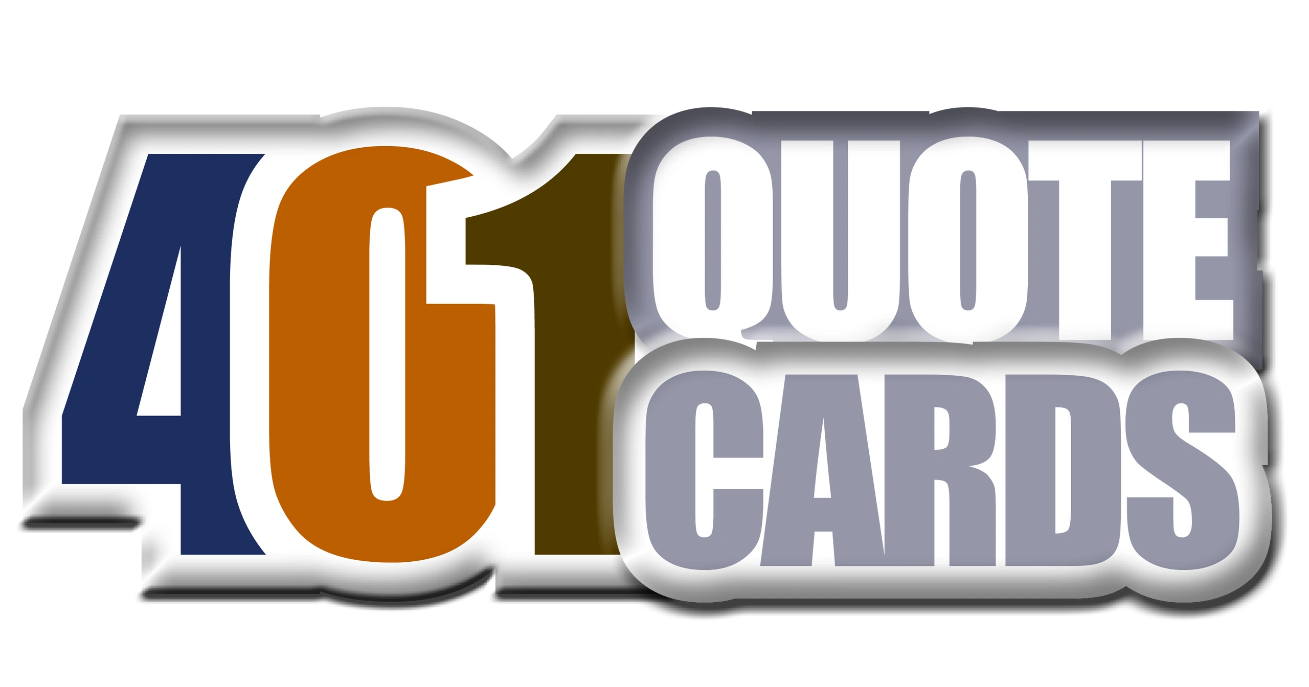 401 Quote Cards original logo.  2000 quotes from history's great minds.  The 401 Book. Genpopmedia.