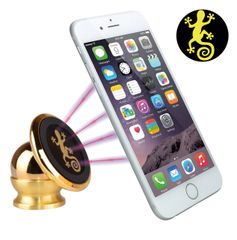 Gecko Luxury 360° Adjustable Steel Magnetic GPS Cell Phone Car Mount and Holder