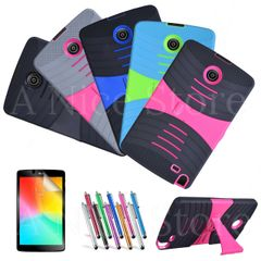 For LG G Pad F 8.0/G Pad 2 8.0 Shock Proof Case Cover With Built in Kickstand with Free Screen Protector and 1 Stylus Pen