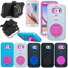 Hybrid Armor Hard Case Cover With Kickstand For Galaxy S6