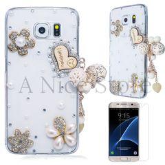 "Samsung Galaxy S6 Luxury 3D New Bling Handmade Crystal Glitter ""I Love You"" Design Case"