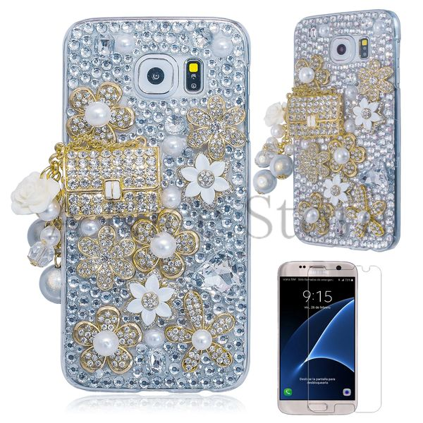 Samsung Galaxy S7 Edge Handmade Luxury 3D Diamond Bag Protective Case