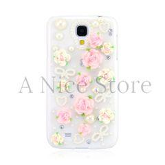 Samsung Galaxy S4 3D Cute Floral Clear Case