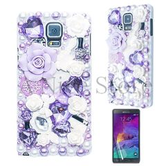 Samsung Galaxy Note 4 Luxury 3D New Bling Handmade Flower Fairy Tale Case