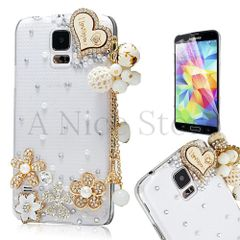 Samsung Galaxy S5 Luxury 3D New Bling Handmade I Love You With Heart Case