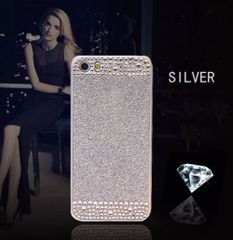 iPhone SE Glitter Bling Case,Luxury Slim 3D Bling Handmade Case for iPhone SE, Silver