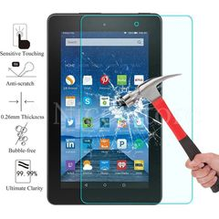 """Amazon Fire 7"""" 5th Gen (2015) Tempered Glass Screen Protector, Bubble Free Scratch-Resistant"""