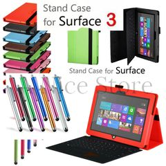 Microsoft Surface 3 Premium PU Leather Folding Folio Stand Case