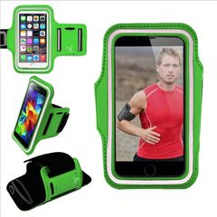 Armband, Universal Premium Water Resistant Jogging Sport Armband with Key Holder for Smart Phone, Green