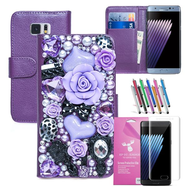 3D Fairy Tale PU Leather Wallet Case for Samsung Galaxy Note 7