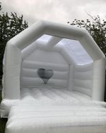White Wedding Bouncy Castle Dorset
