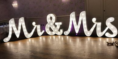Wedding 4ft Mr and Mrs letters Dorset