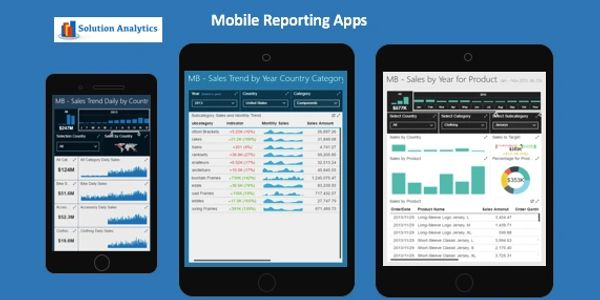 Mobile BI Apps - for market analysis reports