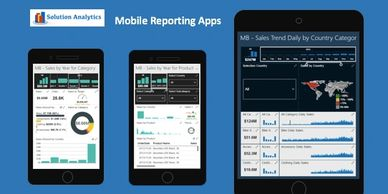 Mobile Reports - market analysis for global market with hundreds of products.