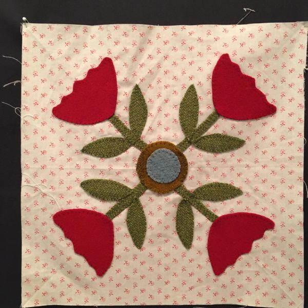 Applique, wool on cotton backing (00127)