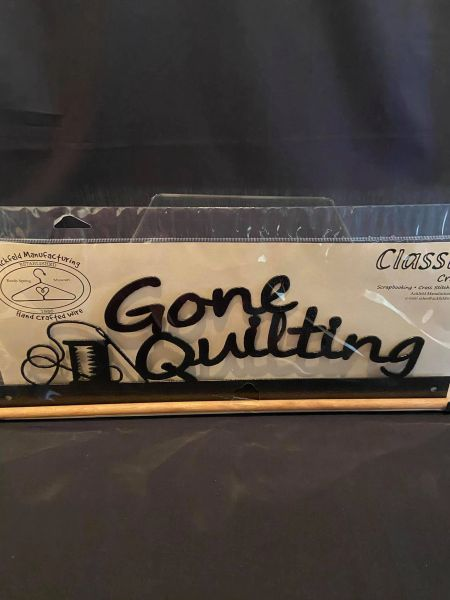 """Sampler Hanger-GONE QUILTING 17"""" dowel (additional standard shipping will be applied)"""