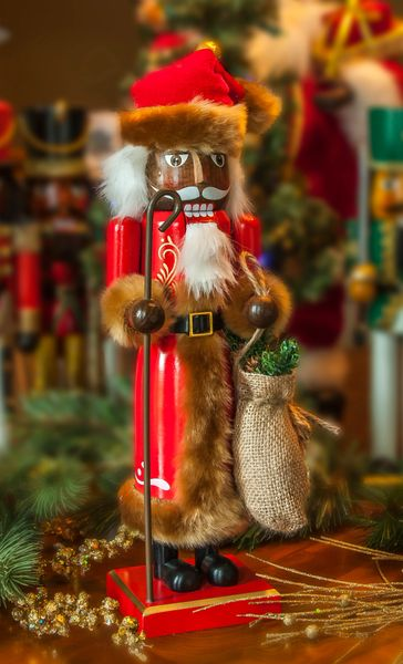 Brown Fur Santa - SOLD OUT