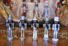 Gold and Silver Nutcracker Ornaments