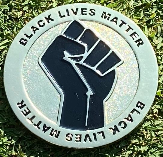 Black Lives Matter Challenge Coin - Silver and Black