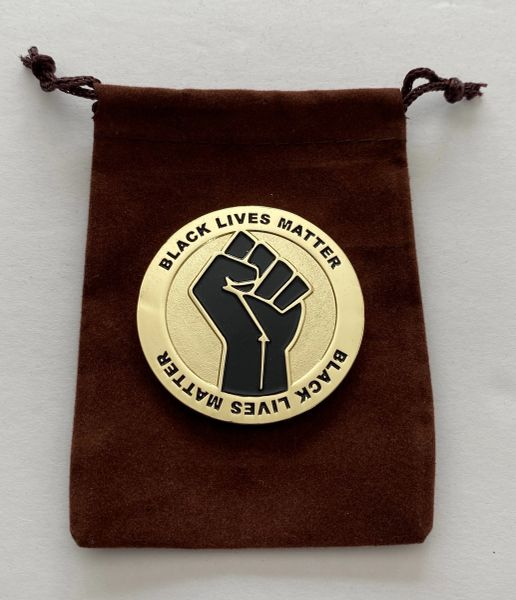 Black Lives Matter Challenge Coin - Gold and Black (Limited Series)
