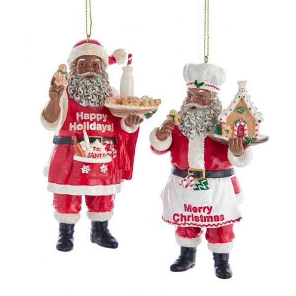 Chef Santa Ornaments, Set of Two -SOLD OUT