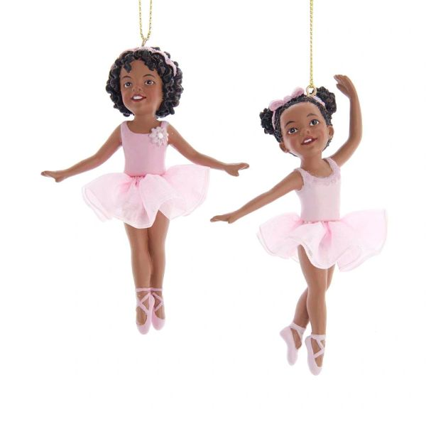 Young Girl Ballerina Ornaments, Set of Two - SOLD OUT