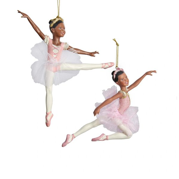 Teen Girl Ballerina Ornaments, Set of Two - SOLD OUT