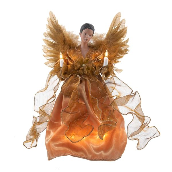"""10"""" Gold Lighted Angel"""