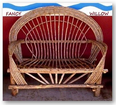Big Sur Country Home Décor: President's Day Savings, Tubac Log Cabin Loveseat - Handcrafted Pool and Patio Furniture