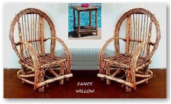 Big Sur Country Home Décor: Christmas - in - July Sale, Frontier Cabin Set, 3 Pieces - Handcrafted Pool and Patio Furniture