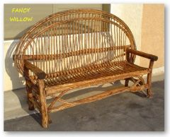 "Auberge Country Home Décor: Tahoe Rio Grande Lodge Bench, 76"" Long - Handcrafted Pool and Patio Furniture"